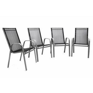 Garthen 32407 Set 4 ks zahradní stohovatelná židle - antracit
