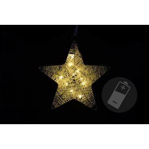 Nexos Vánoční dekorace - hvězda, 25 cm, 10 LED diod