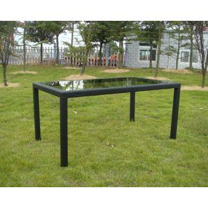 Tradgard RATAN 41186 Zahradní stolek se skleněnou deskou 150x90cm