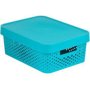 CURVER Úložný box INFINITY DOTS 11L - modrý R41560