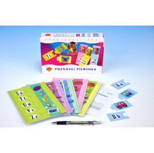 Poznávej písmenka společenská hra v krabici 21x14x4cm