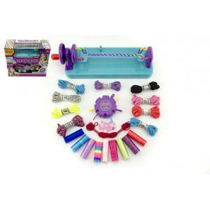Teddies 50925 Kreativní sada na pletení náramků s doplňky plast v krabici 34x30x13,5cm