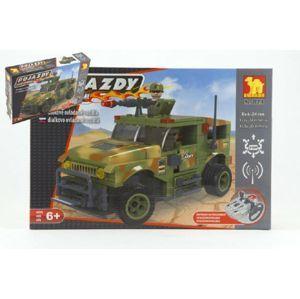 Dromader Vojáci Auto RC 20218 Stavebnice na vysílačku na baterie 28v krabici 37x24x7cm
