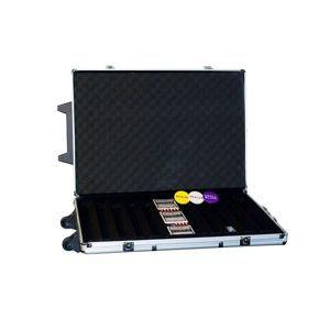Garthen 494 Hliníkový kufr na 1000 ks žetonů s příslušenstvím Trolley