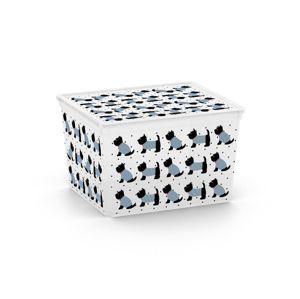 KIS C ANIMAL 57158 Plastový úložný box - CUBE - pejsci