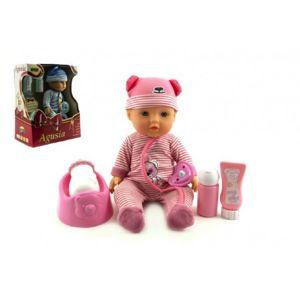 Agusia Panenka miminko plast 27cm pevné tělo pijící čůrající s doplňky