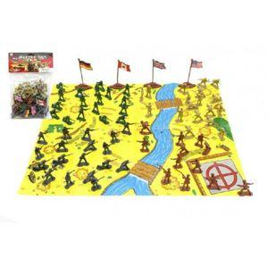 Teddies Vojáci s mapou a doplňky plast