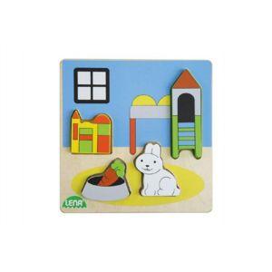 Puzzle dřevěné dětský pokoj v krabičce 118m+