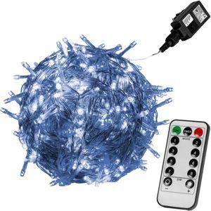 Vánoční LED osvětlení 10 m - studená bílá 100 LED + ovladač VOLTRONIC® M59735