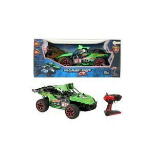 RC buggy Auto zelené plast 28cm s dálkovým ovládáním na baterie v krabici 44x19x22cm