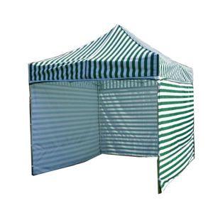 Tradgard PROFI STEEL 56461 Zahradní párty stan 3 x 3 - zeleno-bílá pruhovaná