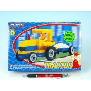 Cheva 5 Traktor s vlekem Stavebnice 84ks v krabici