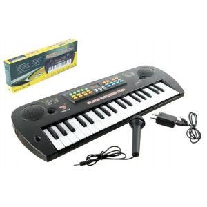 Teddies Piánko plast s mikrofonem + adaptér 37 kláves 50cm