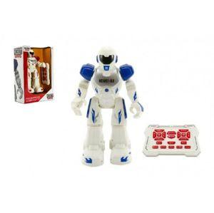 Teddies Robot chodící a tancující s ovladačem na baterie + USB kabel plast 25cm
