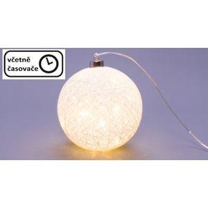 Nexos 64516 Svítící koule - 40 LED, teple bílá