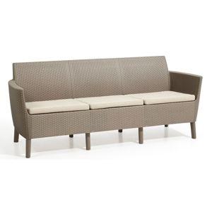 SALEMO trojmístná sofa - cappuccino