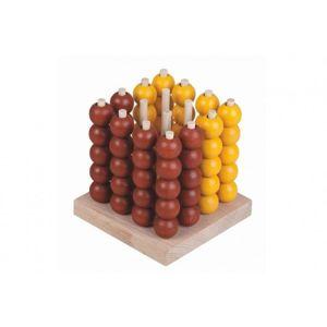 Piškvorky 3D podstavec + kuličky dřevo/kov hlavolam