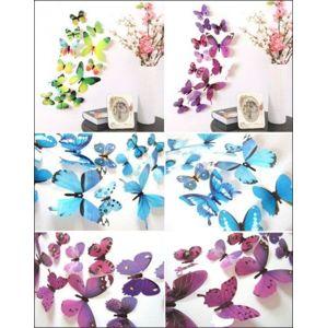 3D motýlci na stěnu - červená