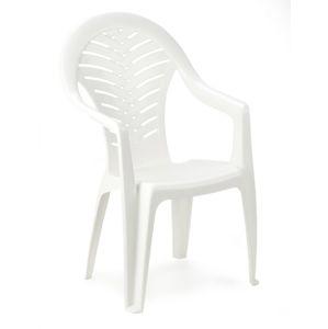 Židle vysoká OCEÁN - bílá