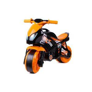 Odrážedlo motorka oranžovo-černá