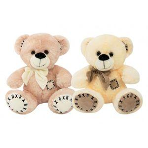 Medvěd s mašlí sedící plyš 28cm