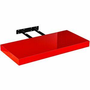 Stilista nástěnná police Volato, 40 cm, lesklá červená